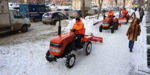Уборка снега в столице Южного Урала